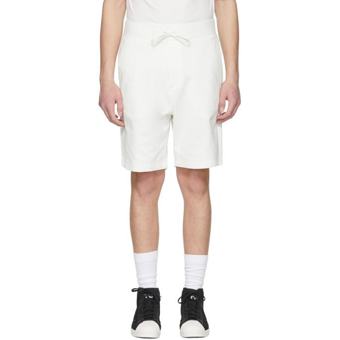 Y-3 White Classic Logo Shorts