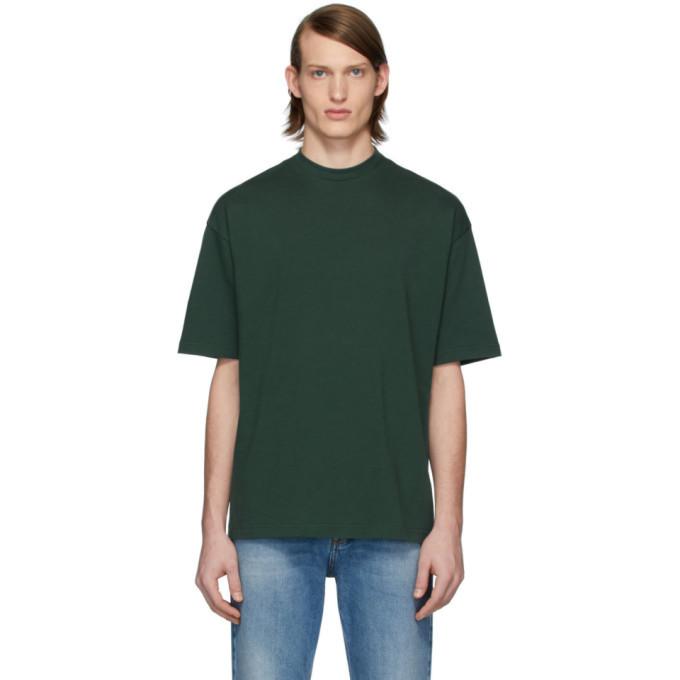 Photo: Balenciaga Green Logo Regular T-Shirt