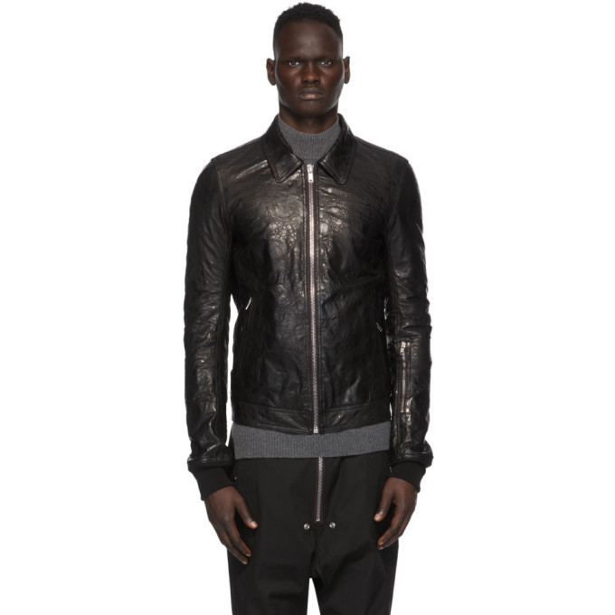Photo: Rick Owens Black Leather Rotterdam Jacket