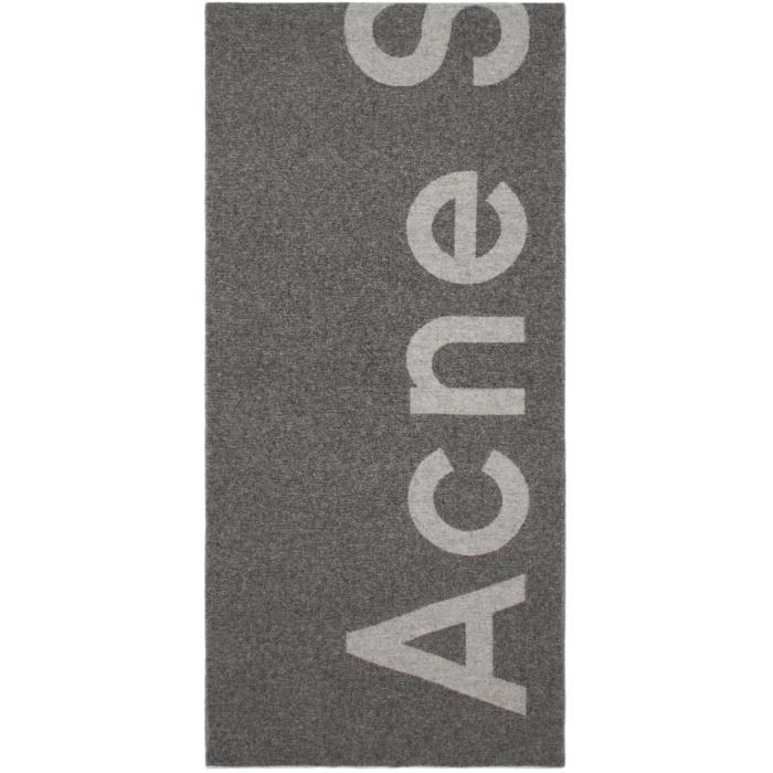 Photo: Acne Studios Grey Toronty Logo Scarf