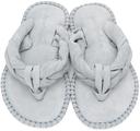 Acne Studios Blue Suede Blank Stitch Sandals