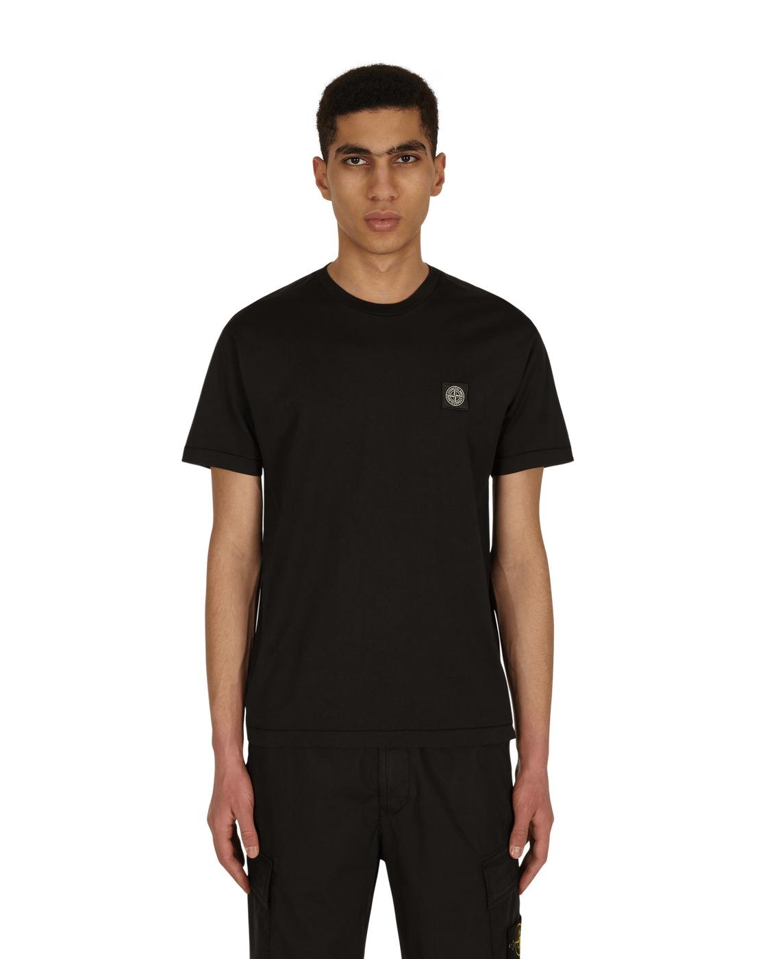 Stone Island Box Logo T Shirt Black