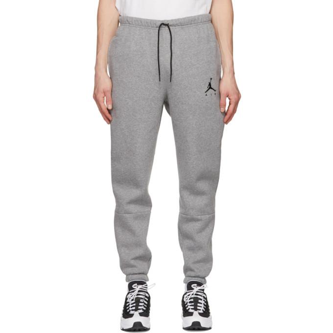 Photo: Nike Jordan Grey Fleece Jumpman Air Sweatpants