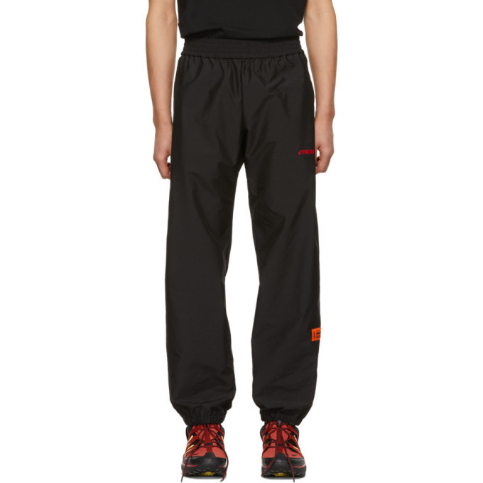 Photo: Heron Preston Black and Red Satin Lounge Pants