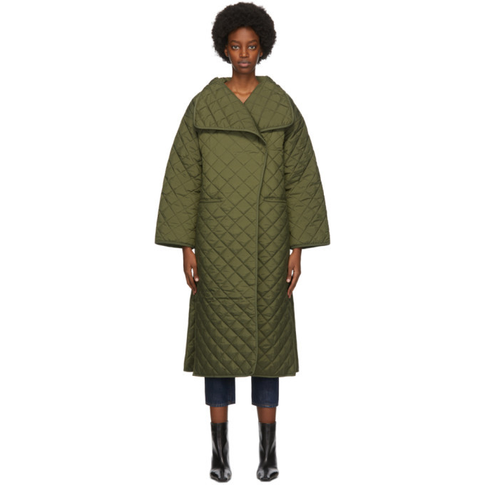 Photo: Toteme Green Quilted Annecy Coat