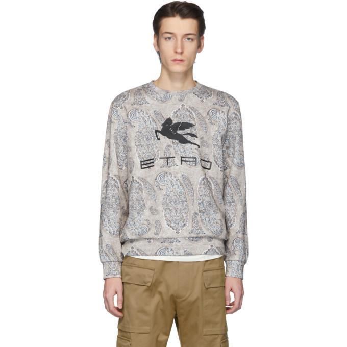 Photo: Etro Off-White Neutra Paisley Pegaso Sweatshirt