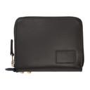 Sacai Black Leather Large Zip Around Wallet