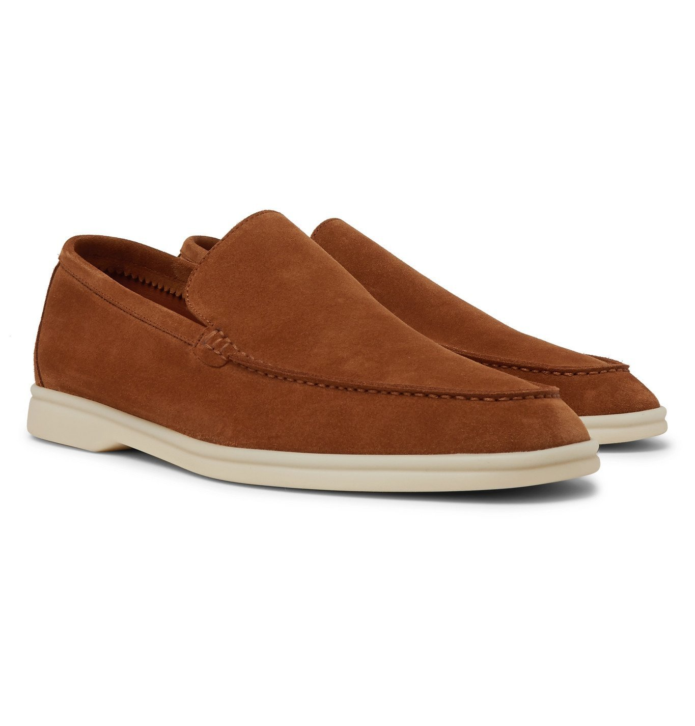 Photo: Loro Piana - Summer Walk Suede Loafers - Brown