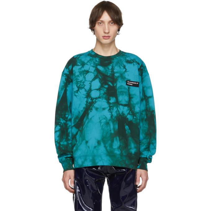 Photo: Acne Studios Blue Tie-Dye Anatomy Patch Sweatshirt