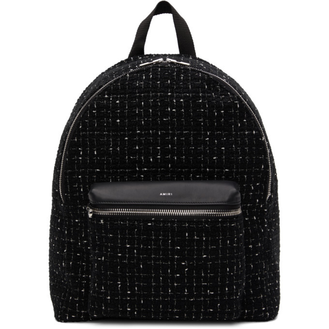 Photo: Amiri Black Tweed Classic Backpack