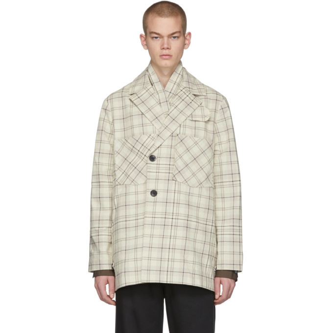 Photo: LHomme Rouge Off-White Story Check Jacket