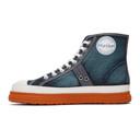 Martine Rose Blue Denim Basketball Sneakers