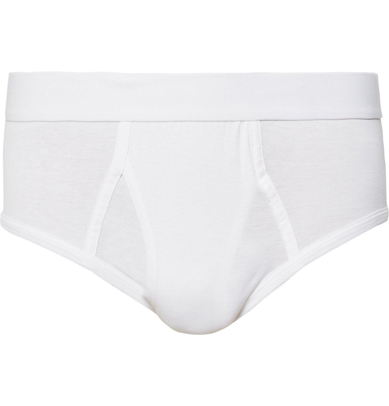 Photo: Handvaerk - Pima Cotton-Jersey Briefs - White