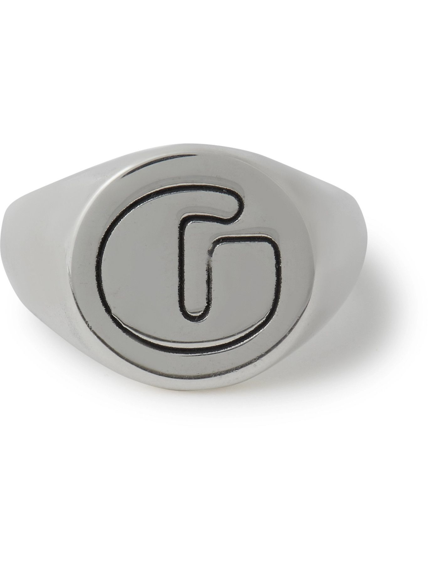 Photo: Gallery Dept. - Logo-Engraved Silver Ring - Silver