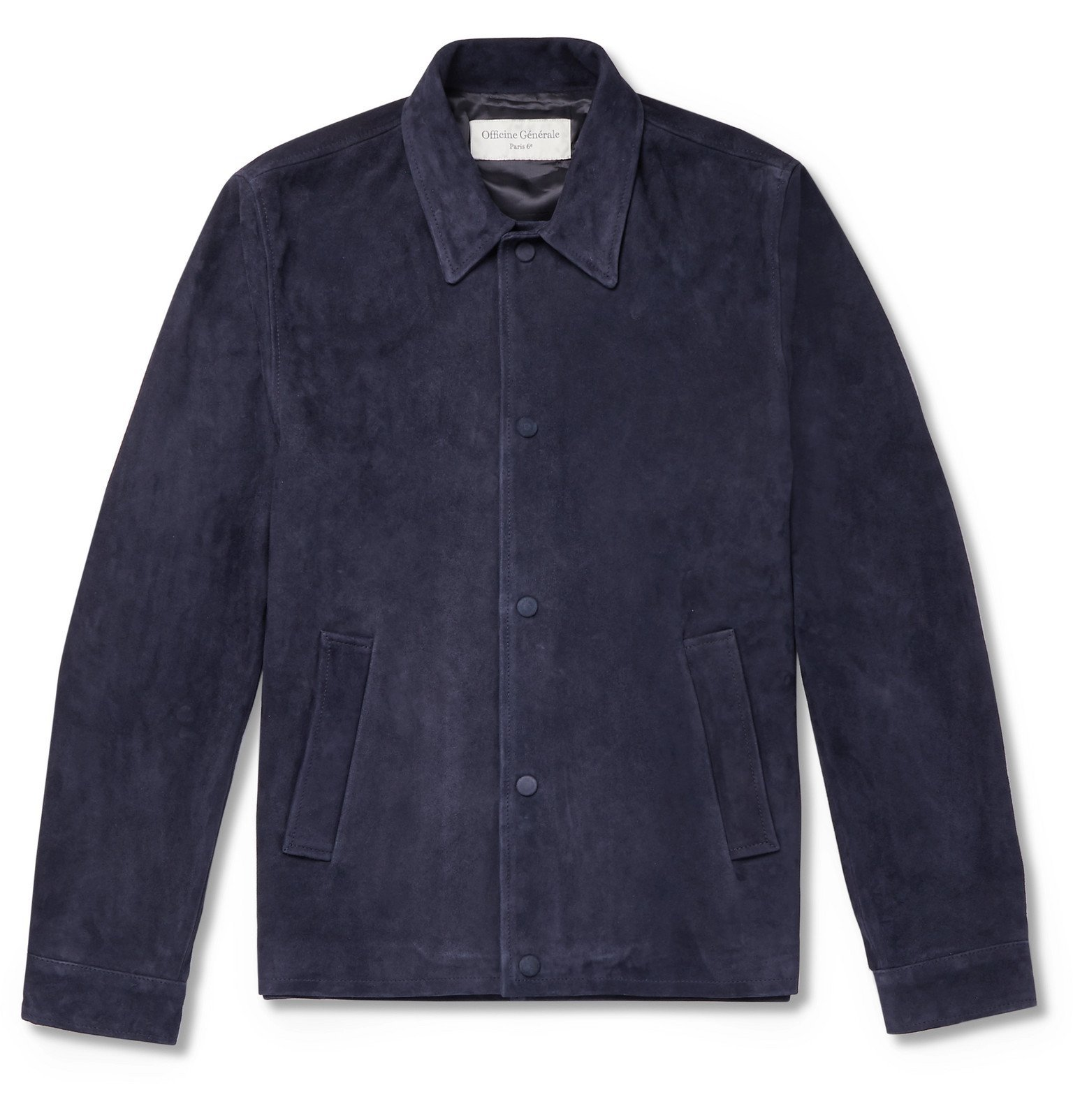 Photo: Officine Generale - Suede Blouson Jacket - Blue
