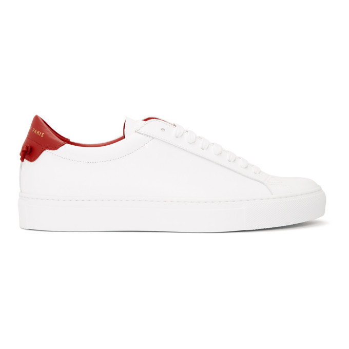 Photo: Givenchy White and Red Urban Knots Sneakers