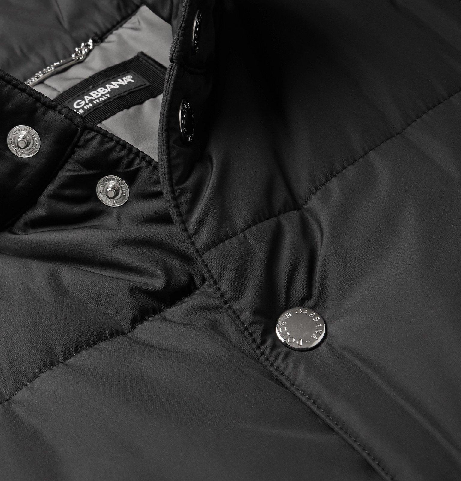 Dolce & Gabbana - Slim-Fit Logo-Appliquéd Quilted Shell Gilet - Black