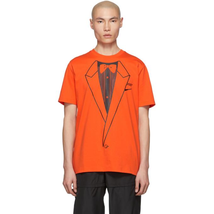 rotación traducir Fraude  NikeLab Orange Off-White Edition NRG A6 T-Shirt NikeLab