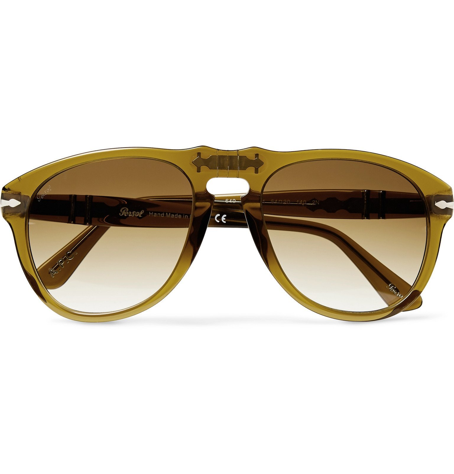 Photo: A.P.C. - Persol Aviator-Style Acetate Sunglasses - Brown