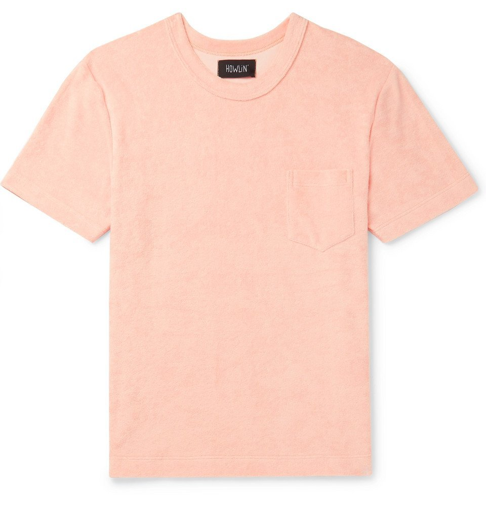 Photo: Howlin' - Cotton-Blend Terry T-Shirt - Blush