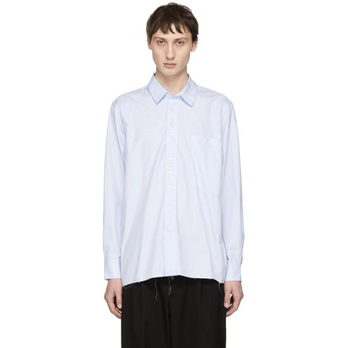 Photo: Camiel Fortgens Blue Cotton Deconstructed Shirt