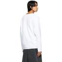 Raf Simons White Peter De Potter Edition Text Patches Sweatshirt