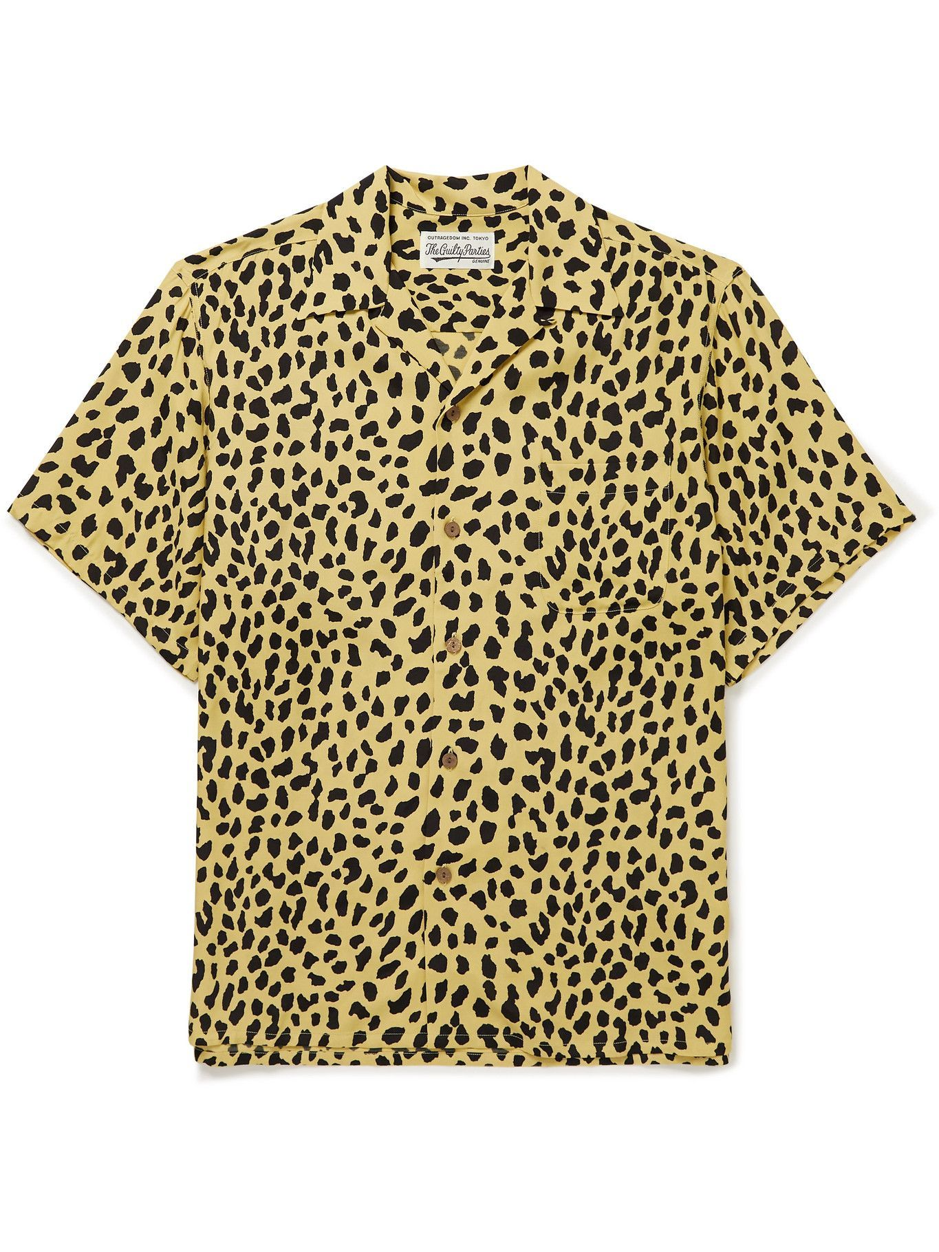 Photo: Wacko Maria - Camp-Collar Printed Woven Shirt - Yellow