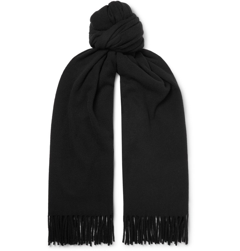Photo: Acne Studios - Canada Fringed Mélange Wool Scarf - Black