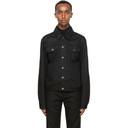 Raf Simons Black Short Denim Jacket