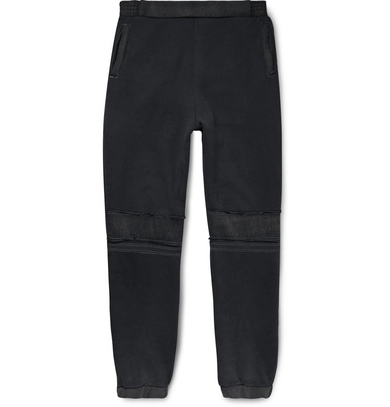 Photo: AMBUSH® - Distressed Loopback Cotton-Jersey Sweatpants - Black