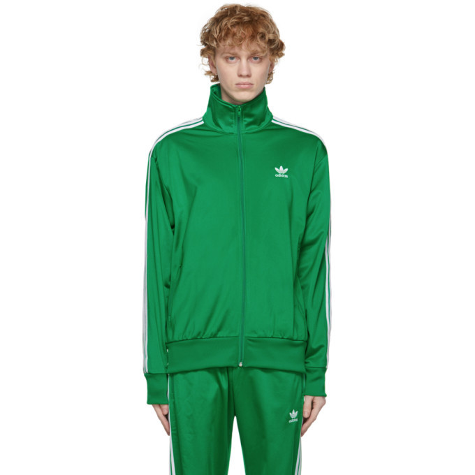 Photo: adidas Originals Green Adicolor Classics Firebird Track Jacket