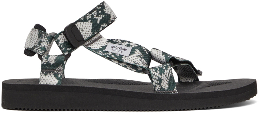 Photo: WACKO MARIA White & Green Suicoke Edition DEPA-CAB Sandals
