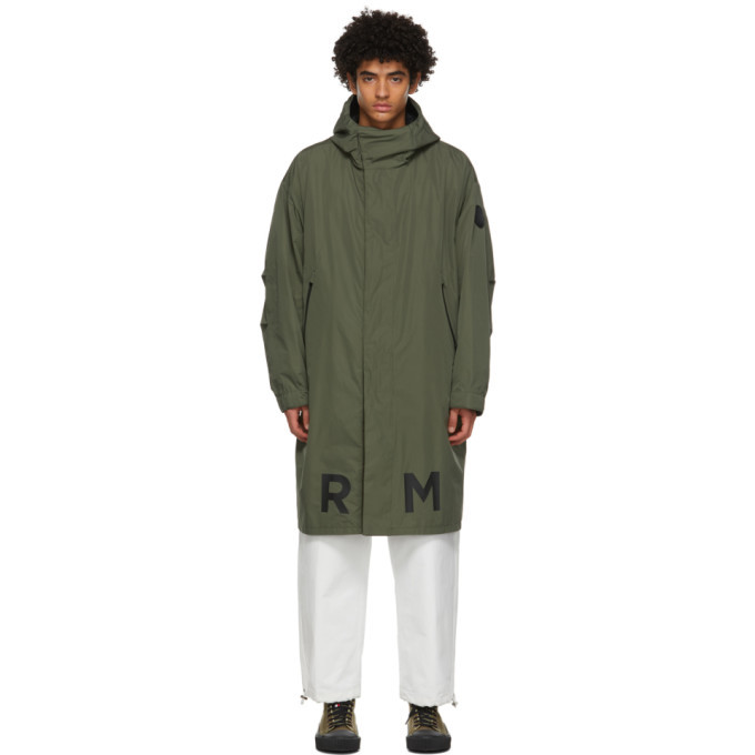 Photo: Moncler Reversible Green and Black Coffre Coat