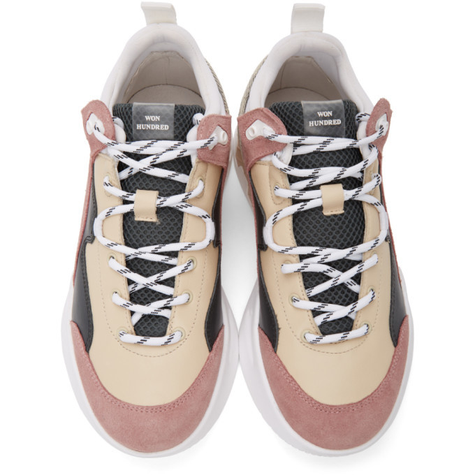 Won Hundred Pink and Beige Cherlee Sneakers