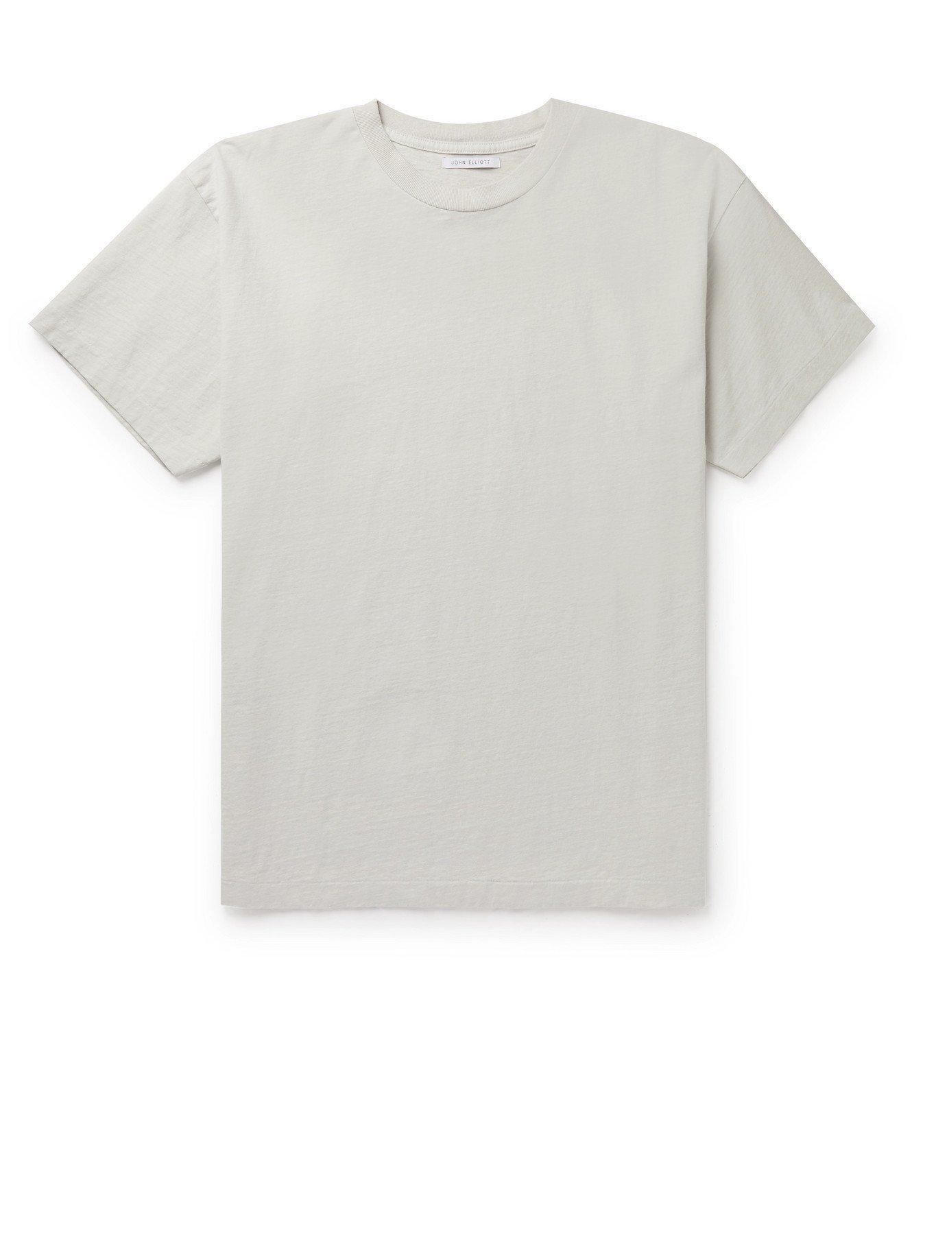 Photo: JOHN ELLIOTT - University Recycled Cotton-Jersey T-Shirt - Gray