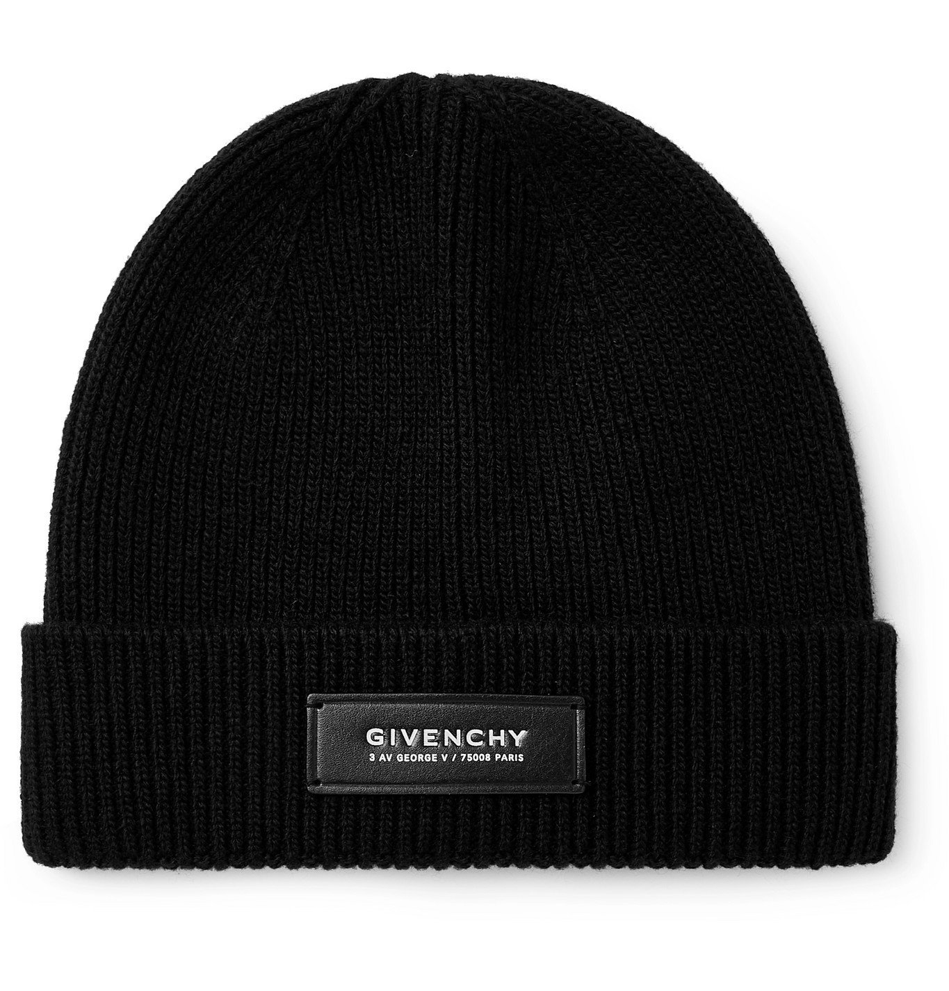 Photo: GIVENCHY - Leather-Trimmed Wool and Cashmere-Blend Beanie - Black