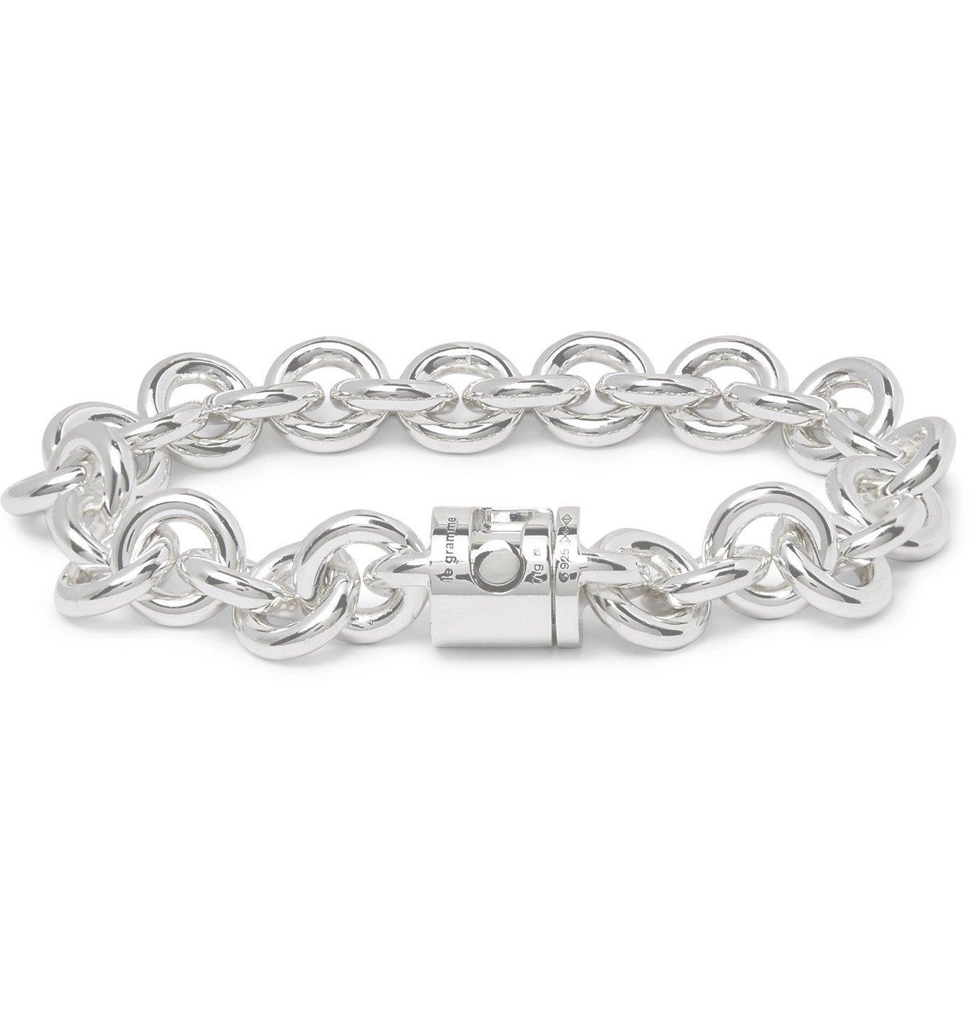 Photo: Le Gramme - Le 103 Sterling Silver Chain Bracelet - Silver