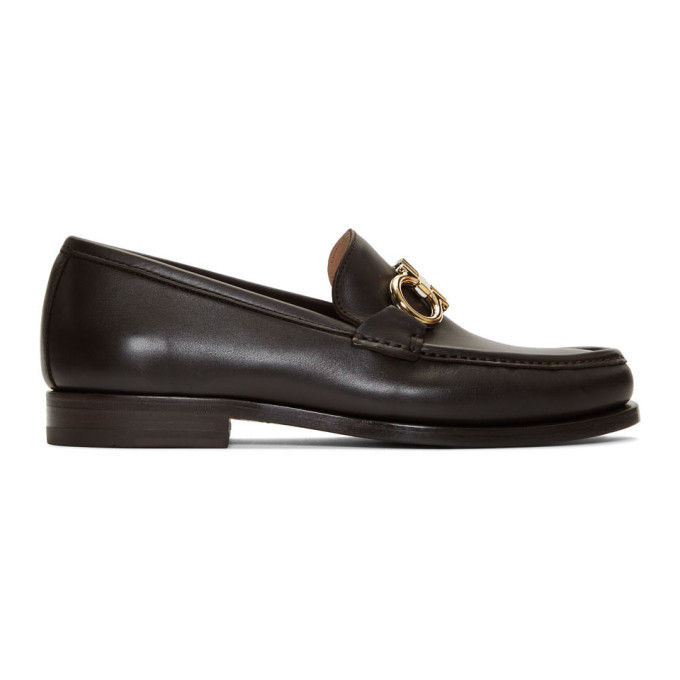 Photo: Salvatore Ferragamo Brown Rolo Loafers