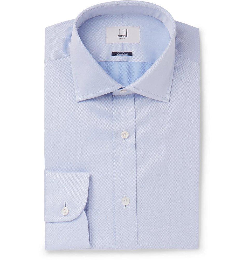 Dunhill - Light-Blue Slim-Fit Cotton Shirt - Men - Light blue