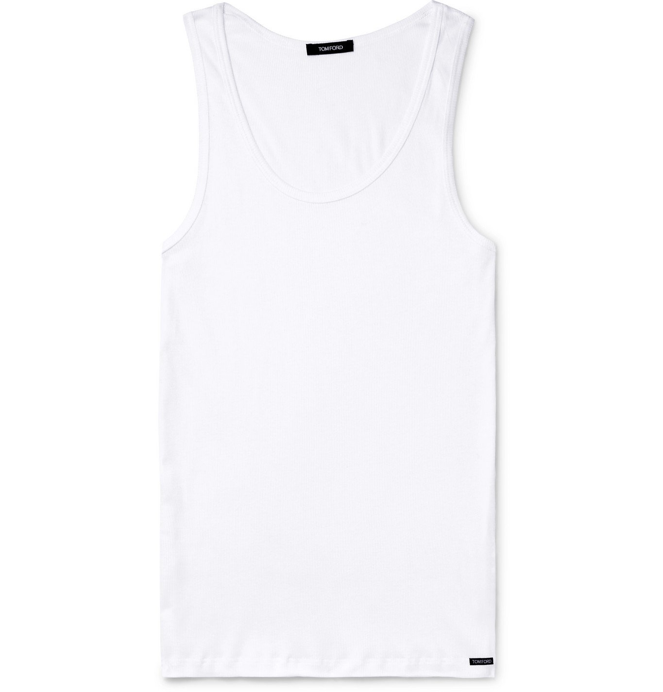 Photo: TOM FORD - Ribbed Cotton and Modal-Blend Jersey Tank Top - White