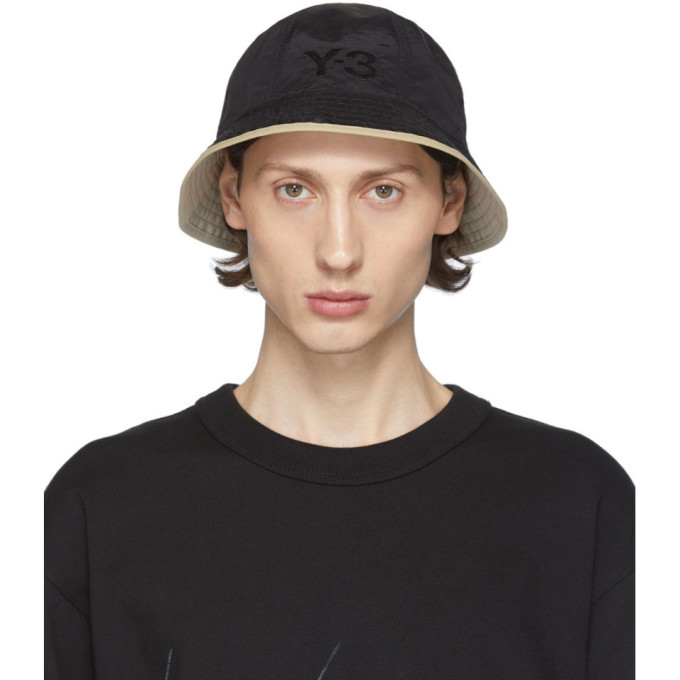 Photo: Y-3 Reversible Black Logo Bucket Hat