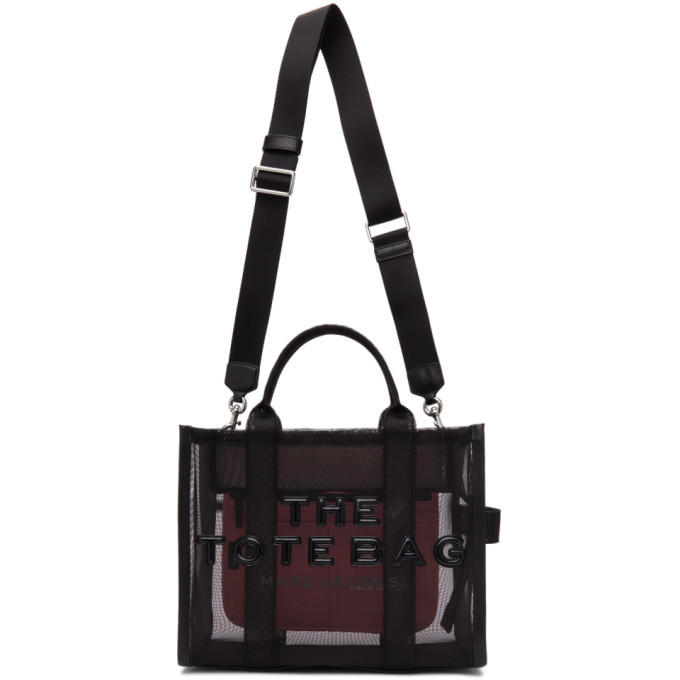 Marc Jacobs Black Small The Mesh Traveler Tote