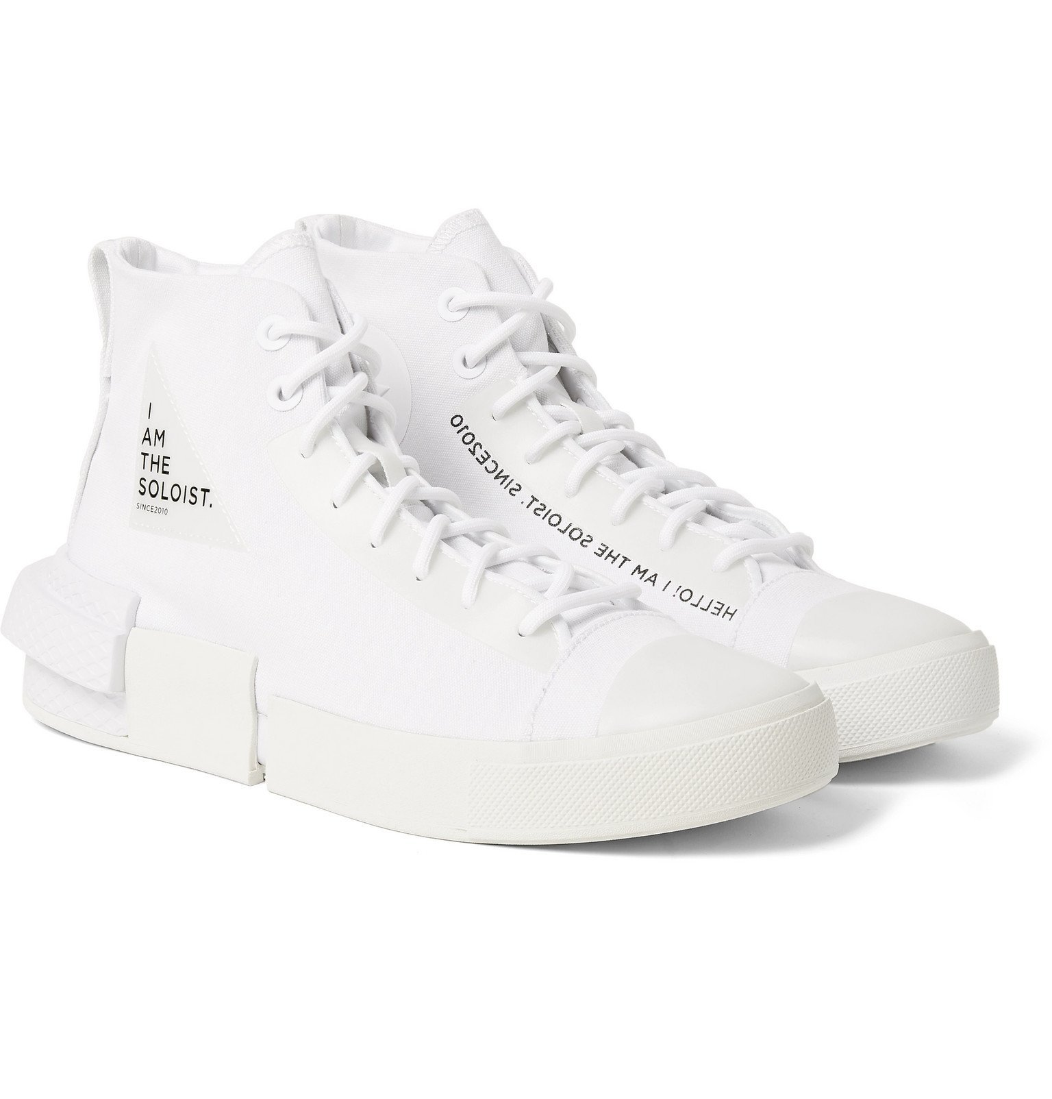Photo: Converse - TheSoloist All Star Disrupt CX Canvas High-Top Sneakers - White