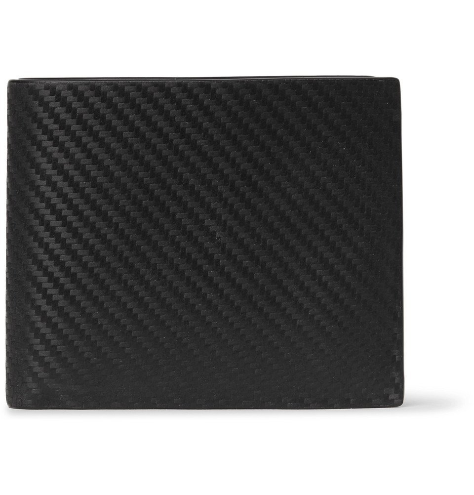 Dunhill - Embossed Chassis Leather Billfold Wallet - Men - Black