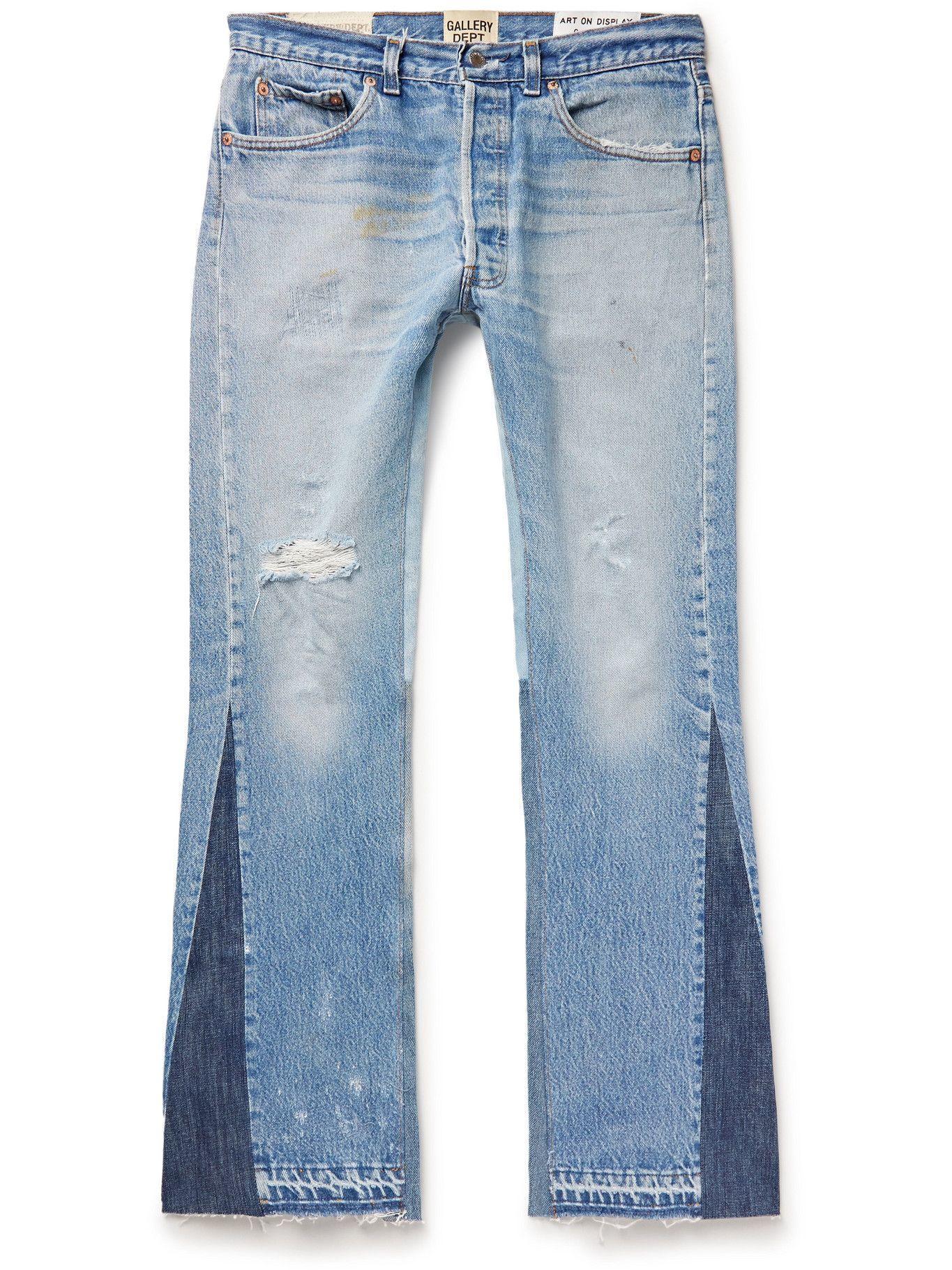 Photo: GALLERY DEPT. - LA Flare Slim-Fit Distressed Denim Jeans - Blue