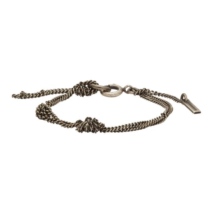 Photo: Ann Demeulemeester Silver Chain Knot Bracelet