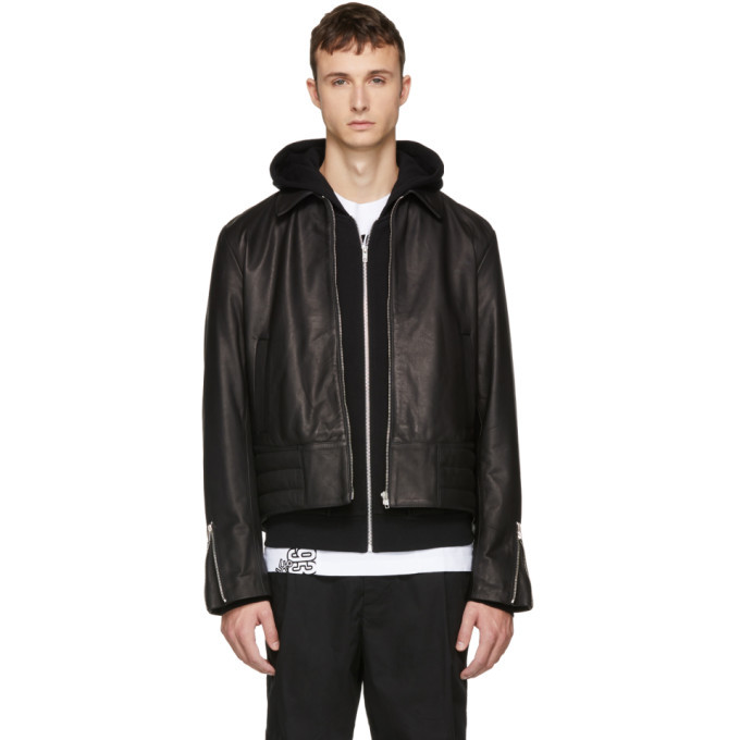 Photo: McQ Alexander McQueen Black Leather Moto Jacket