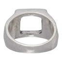 Ksubi Silver Dripps Box Signet Ring
