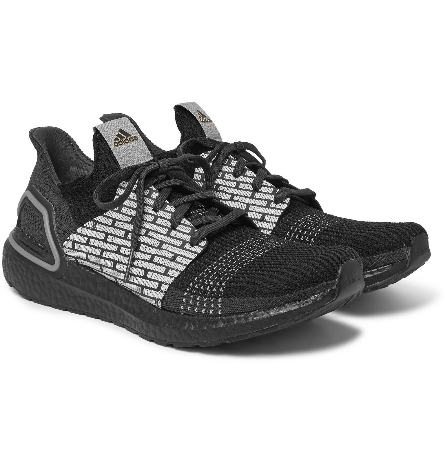 Photo: adidas Consortium - Neighborhood UltraBOOST 19 Rubber-Trimmed Primeknit Sneakers - Black