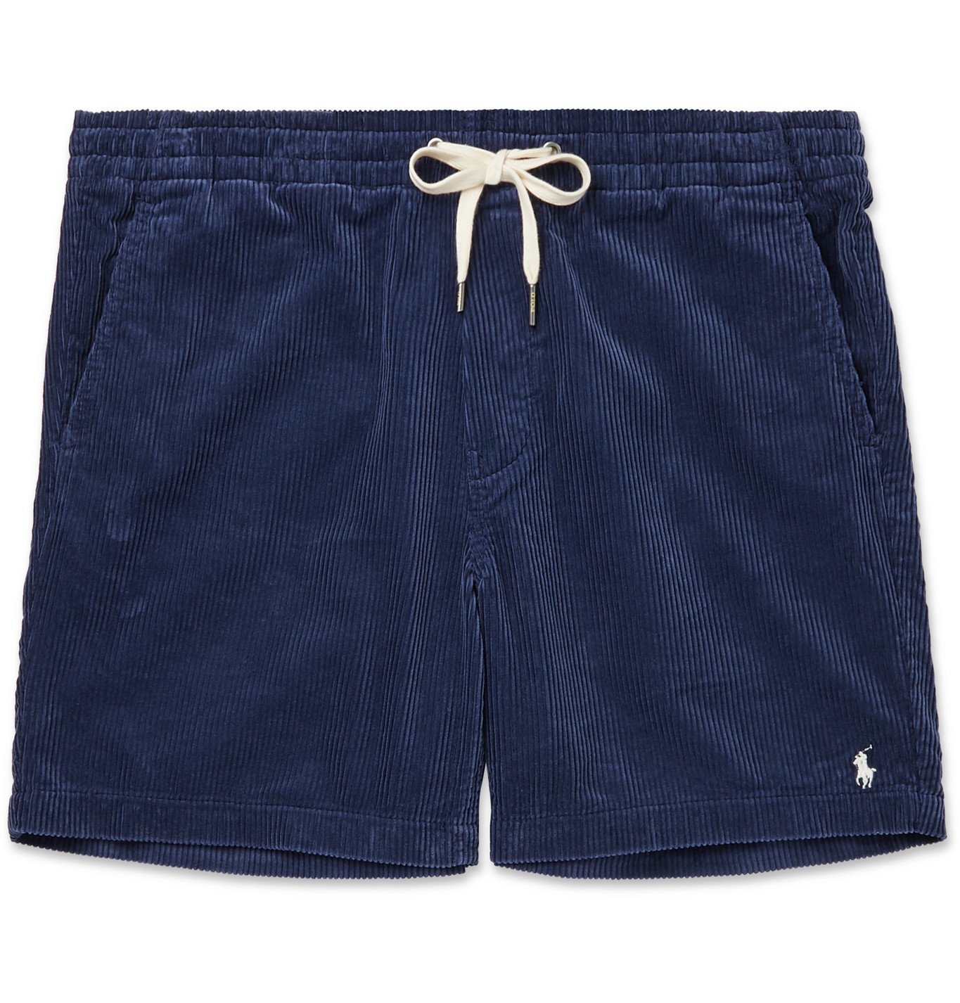 Photo: Polo Ralph Lauren - Prepster Cotton-Corduroy Drawstring Shorts - Blue